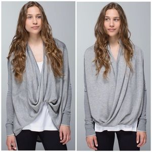 Lululemon Light Heather Grey Iconic Sweater Wrap